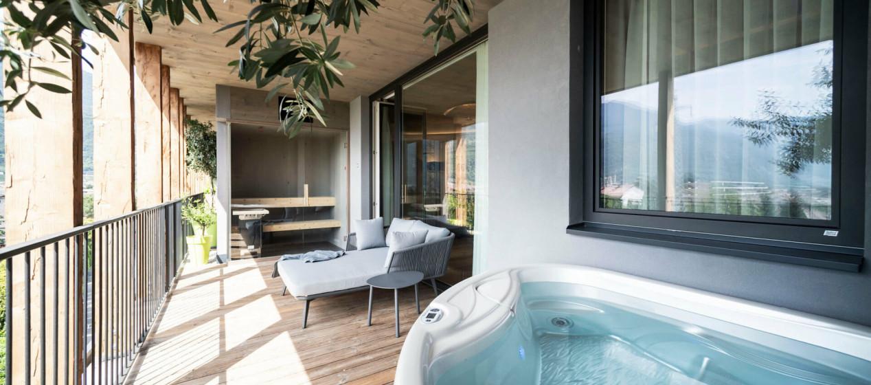 Luxussuite mit Privater Sauna & Whirlpool - Hotel Pfeiss Meran