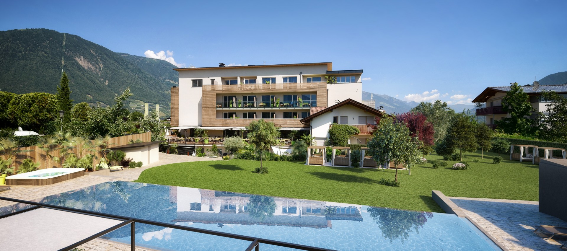 Rendering Schwimmbad 2017 Homepage - Hotel Lana - Pfeiss 4 Sterne