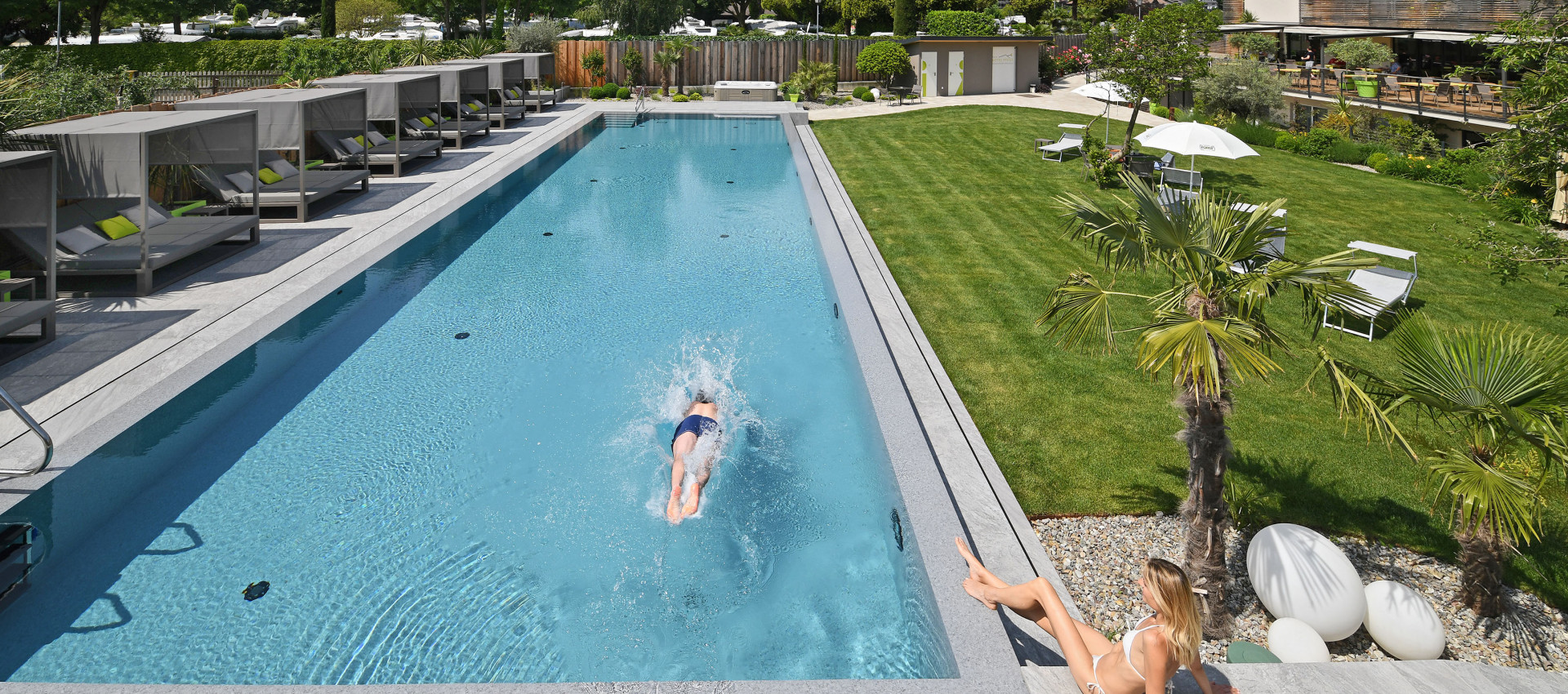 Hotel Pfeiss Lana Outdoor Pool