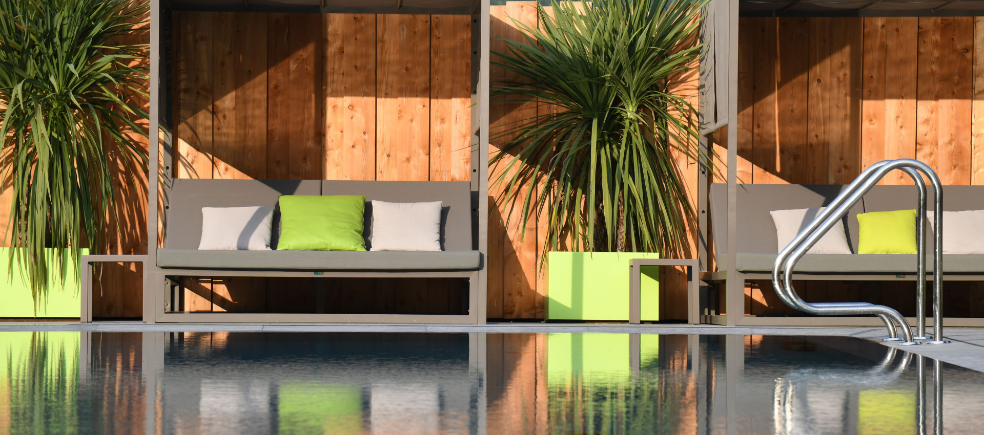 Garten & Pool im Hotel mit Feriendialyse Südtirol
