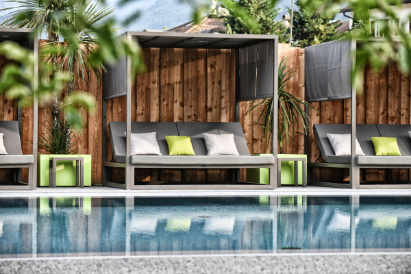 Yoga, Entspannung, Pool