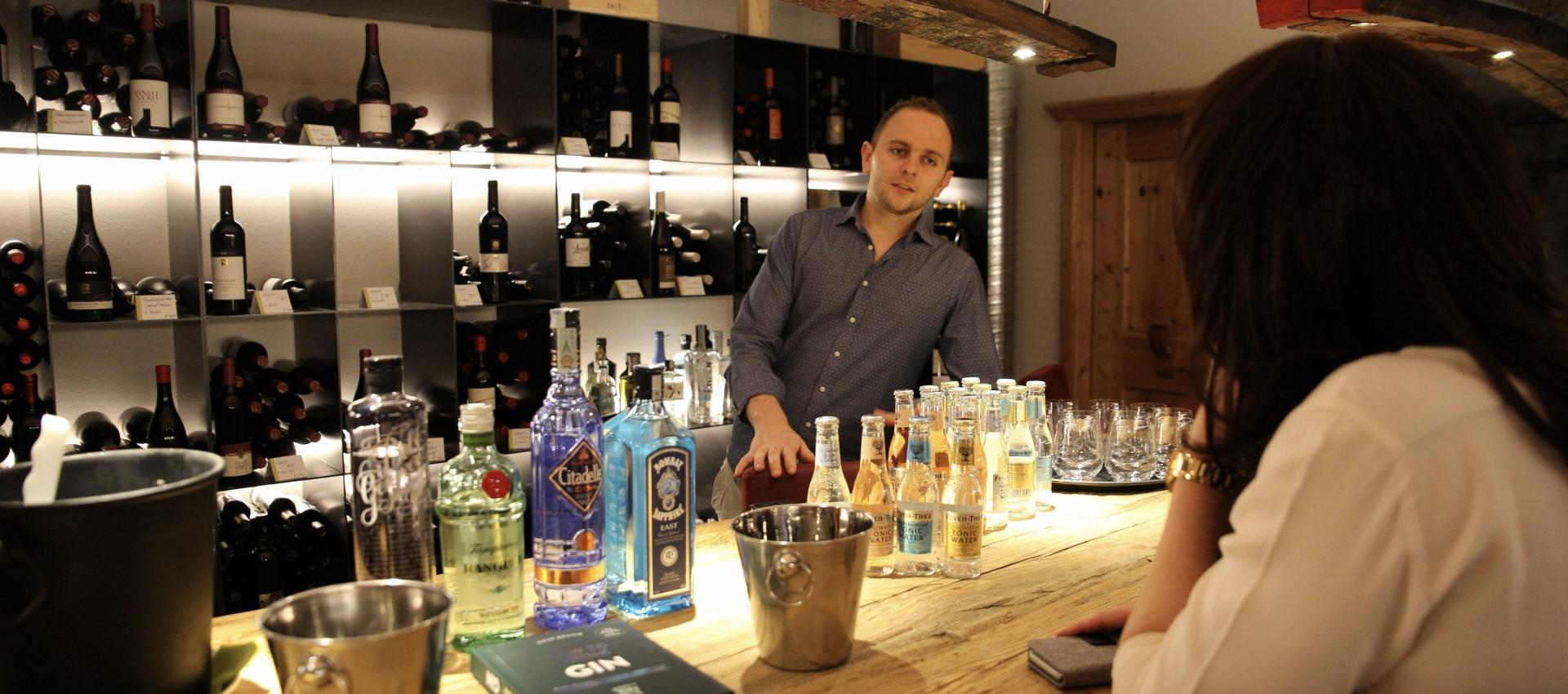 Gin Tasting Hotel 4 Sterne bei Meran, Gin & Kulinarik