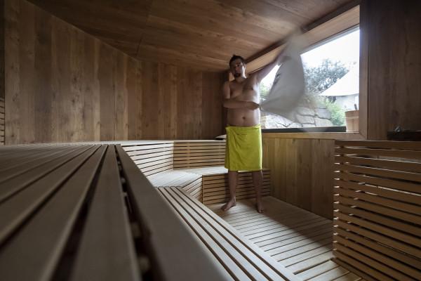 sauna e spa in montagna con aufguss