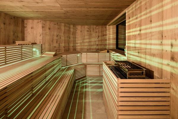 Finnische Sauna 4 Sterne Hotel in Lana Pfeiss - Südtirol - Wellness bei Meran