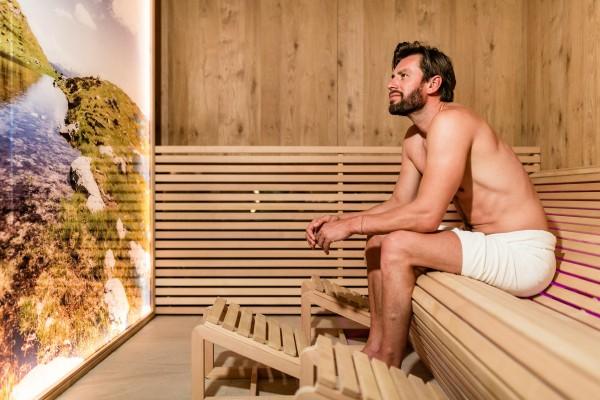 Sauna im Wellnesshotel Südtirol, Aktivhotel bei Meran
